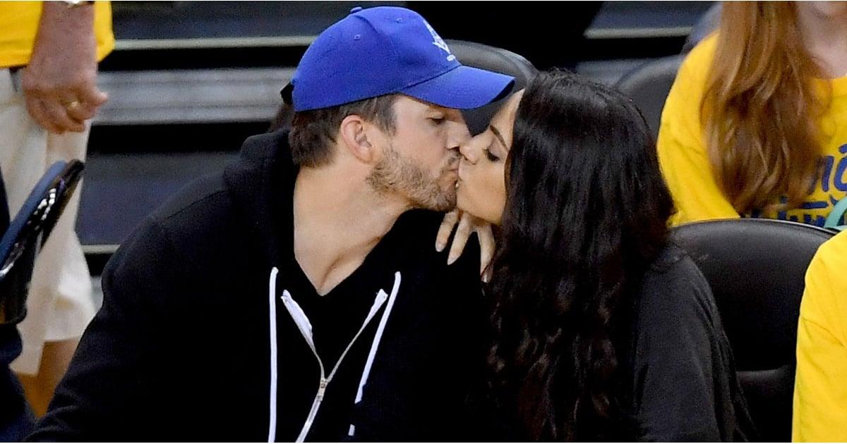 Ashton Kutcher and Mila Kunis at the 2016 NBA Finals ...