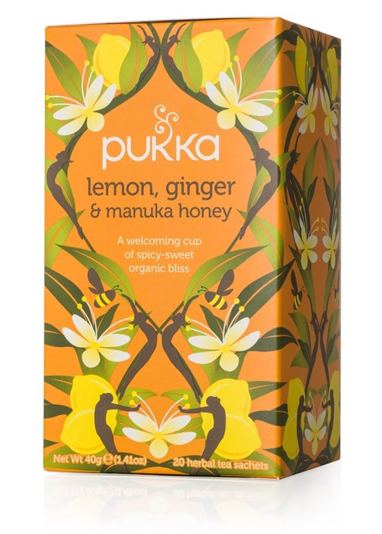 Pukka Herbs Lemon, Ginger, and Manuka Honey Tea