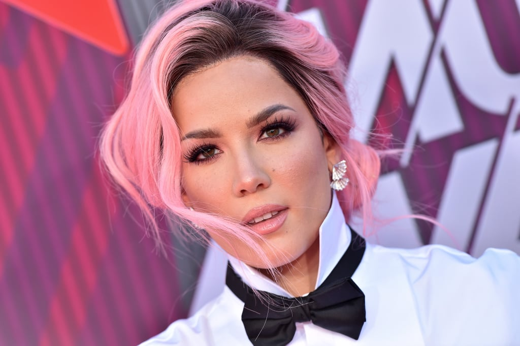 Halsey In Blue Colored Hair: Flipboard: Halsey Has Now Dyed Her Hair Black, And We Can