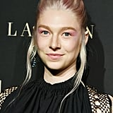 Hunter Schafer's Pink Hair and Top Knot, October 2019