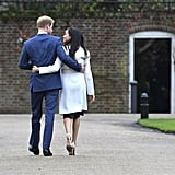 """Meghan on Harry's proposal: """"It was just an amazing surprise. It was so sweet and natural and very romantic. He got down on one knee . . . As a matter of fact, I could barely let [him] finish proposing, like, 'Can I say yes now?!'""""  Meghan on how they met: """"It was definitely a set-up, it was a blind date . . . Because I'm from the States, you don't grow up with the same kind of understanding of the royal family, and so while I now understand very clearly there's a global interest there, I didn't know much about him. So the only thing that I had asked her [the mutual friend] was 'Is he nice?' because if he wasn't kind, it didn't seem like it would make sense.""""  Meghan on how she tunes out critics of their relationship: """"Of course it's disheartening. It's a shame that that is the climate in this world, to focus that much on that, to be discriminatory in that sense. I think, you know, at the end of the day, I'm really just proud of who I am and where I've come from and we have never put any focus on that. We've just focused on who we are as a couple. And so when you take all those extra layers away and all of that noise, I think it makes it really easy to just enjoy being together."""""""
