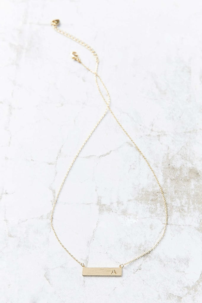 Urban Outfitters Initial Bar Necklace ($16)