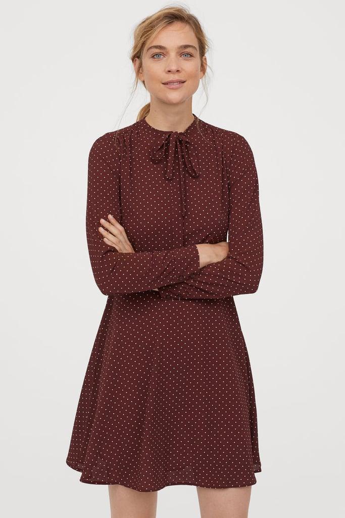H&M Crêped Dress With Ties