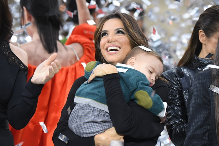Eva Longoria Brought Her Son Santiago To Paris Fashion