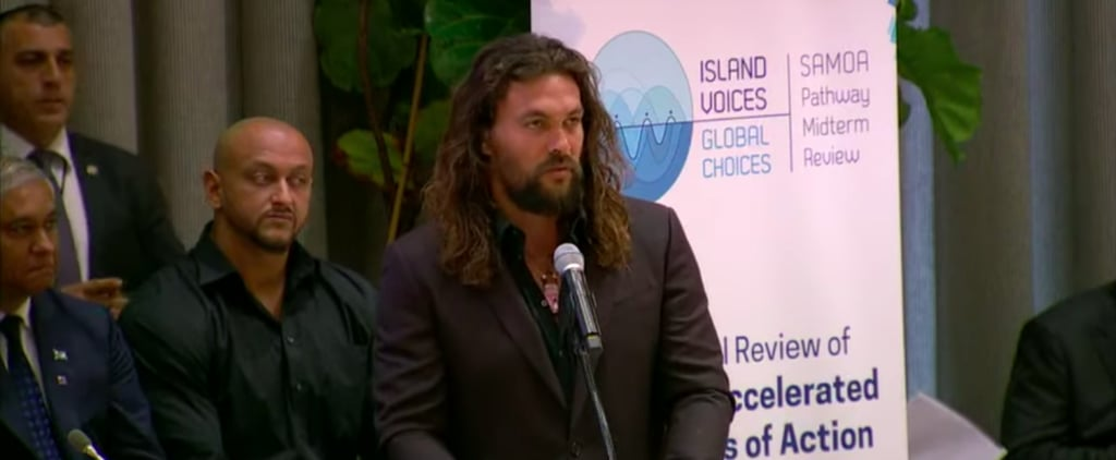 Jason Momoa Delivers Speech at the United Nations   Video
