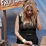 Ashley Benson played DJ.