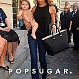 Victoria and Harper Beckham Break From Fashion For a Museum Stop