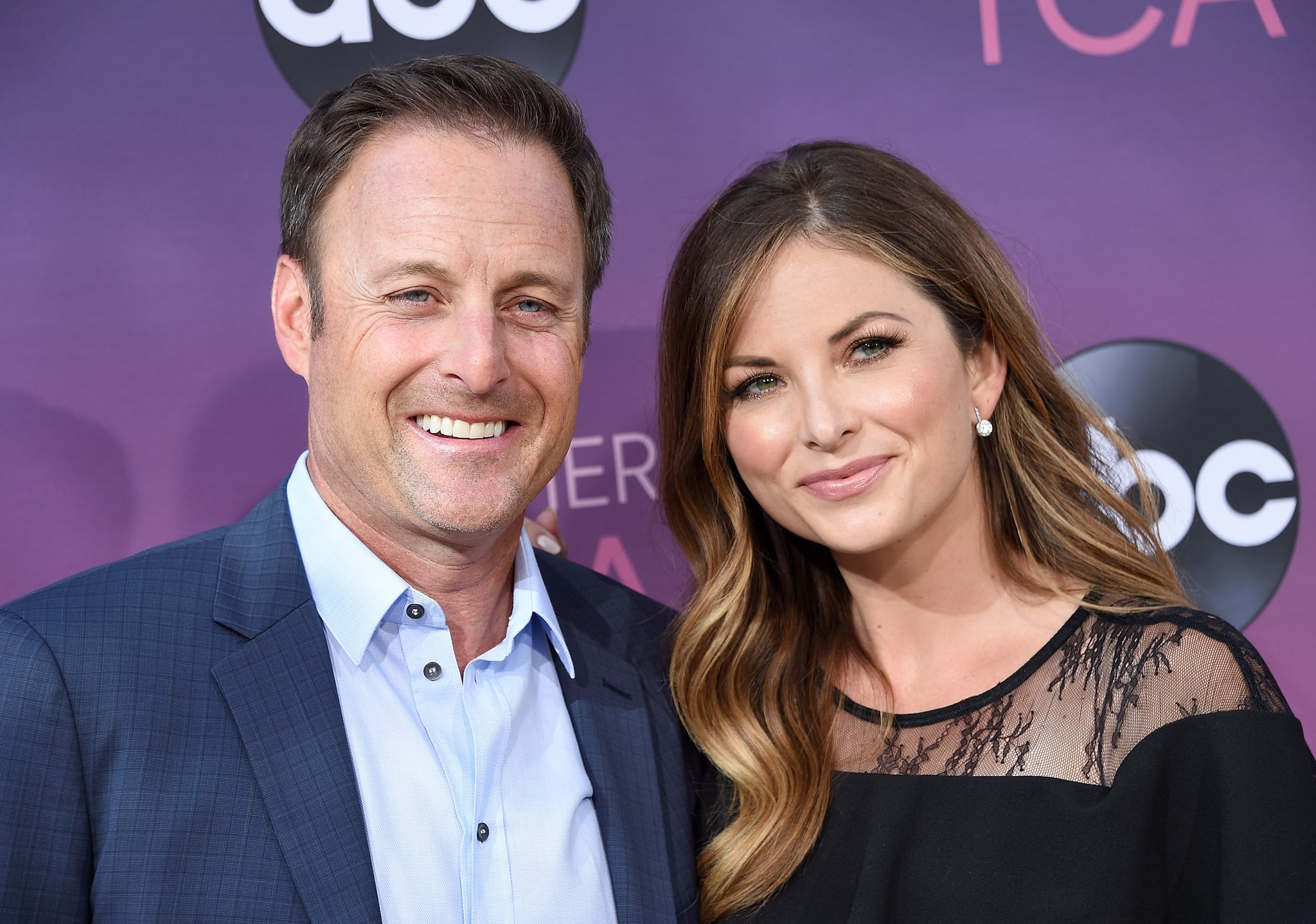 WEST HOLLYWOOD, CA - AUGUST 05:  Chris Harrison and Lauren Zima arrive at ABC's TCA Summer Press Tour Carpet Event on August 5, 2019 in West Hollywood, California.  (Photo by Gregg DeGuire/WireImage)