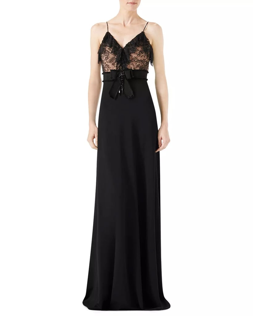 Gucci Viscose Jersey and Lace Gown