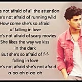 """She's Not Afraid"" by One Direction"