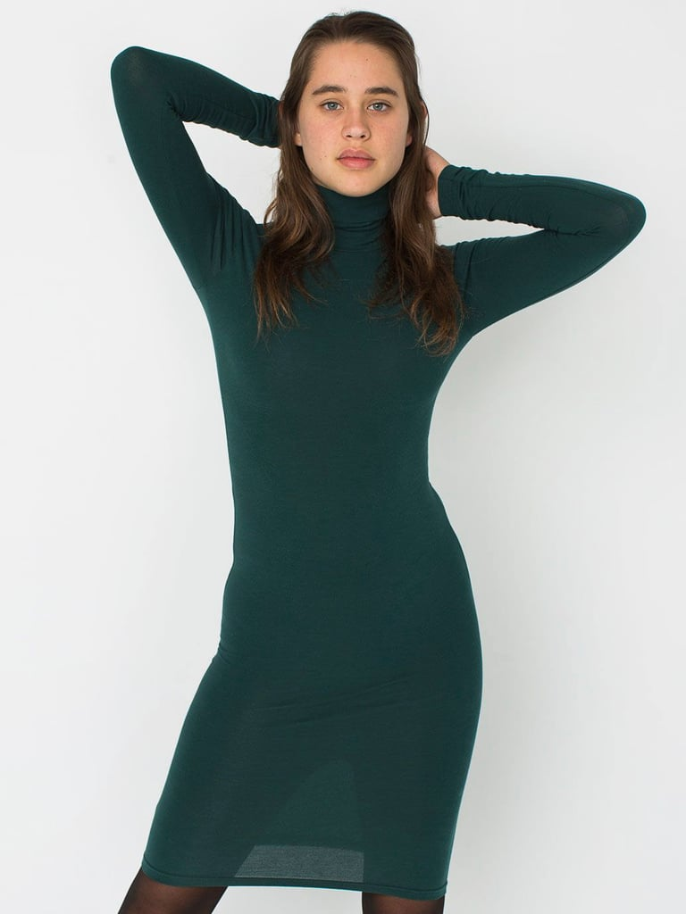 American Apparel Jersey Turtleneck Dress