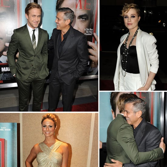 Ryan and George Make a Handsome Duo at Ides of March Premiere —With Stacy Keibler Along As Well!