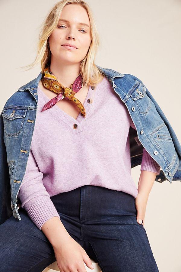 Anthropologie Serena V-Neck Sweater