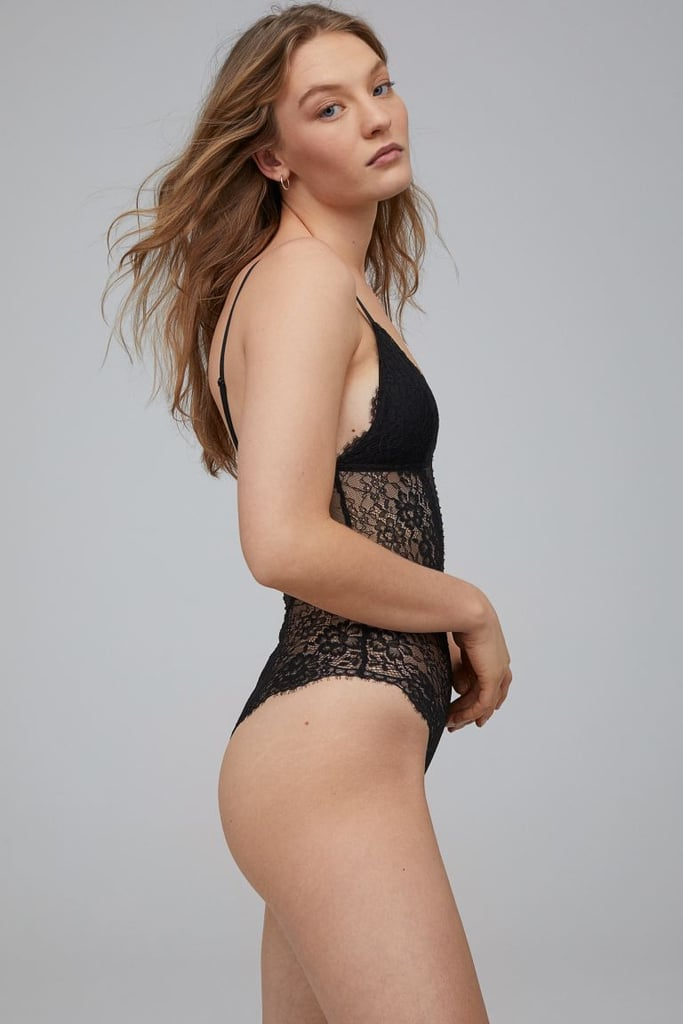 H&M Padded-cup Lace Bodysuit