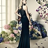Truly Zac Posen Long Black Dress With Lace Back