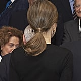 A Low Ponytail With a Hidden Elastic