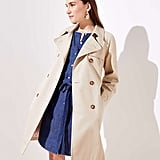 LOFT Floral Lined Trench Coat
