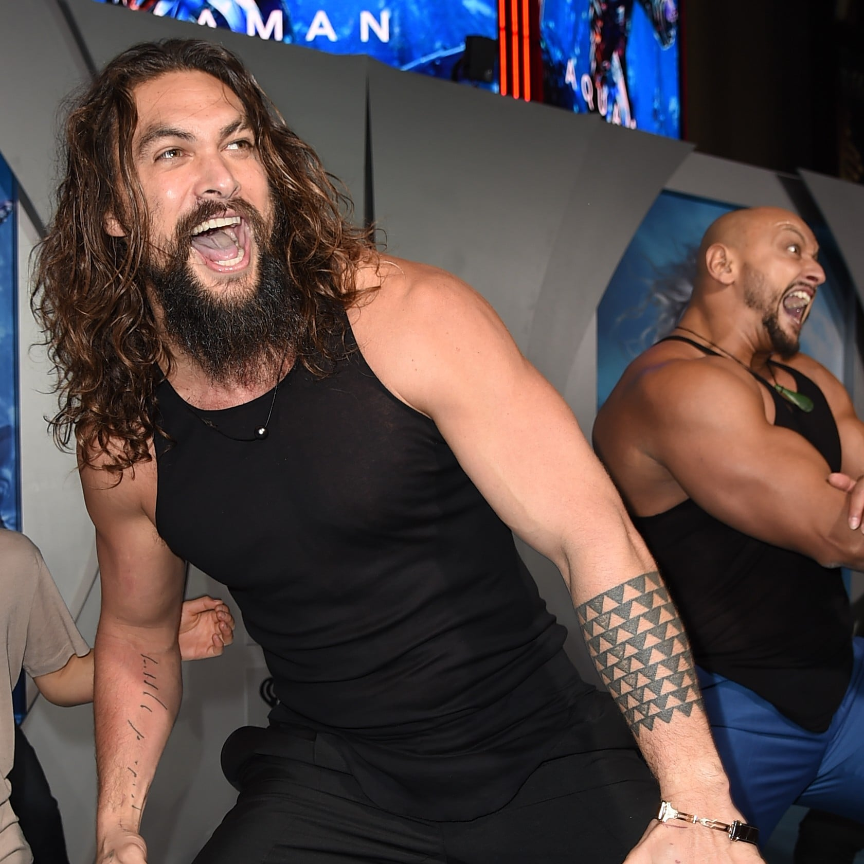Jason Momoa Doing The Haka With His Kids At The Aquaman Premiere