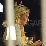 Gwyneth Paltrow checked her phone between shots for Thanks For Sharing.