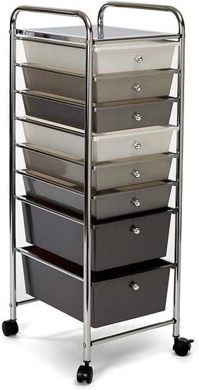 For At Home Organization: Seville Classics 8-Drawer Multipurpose Storage Cart