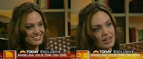 Angelina Lets Her Guard Down, Just A Bit, to Ann Curry