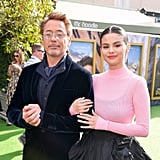 Robert Downey Jr. and Selena Gomez at the Dolittle Premiere in LA