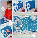 Q-Tip Paint Snowscape