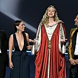 Kit Harington, Emilia Clarke, Gwendoline Christie, and Nikolaj Coster-Waldau at the 2019 Emmys