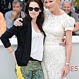 Kristen Stewart and Kirsten Dunst posed together at the On the Road photocall at the Cannes Film Festival.