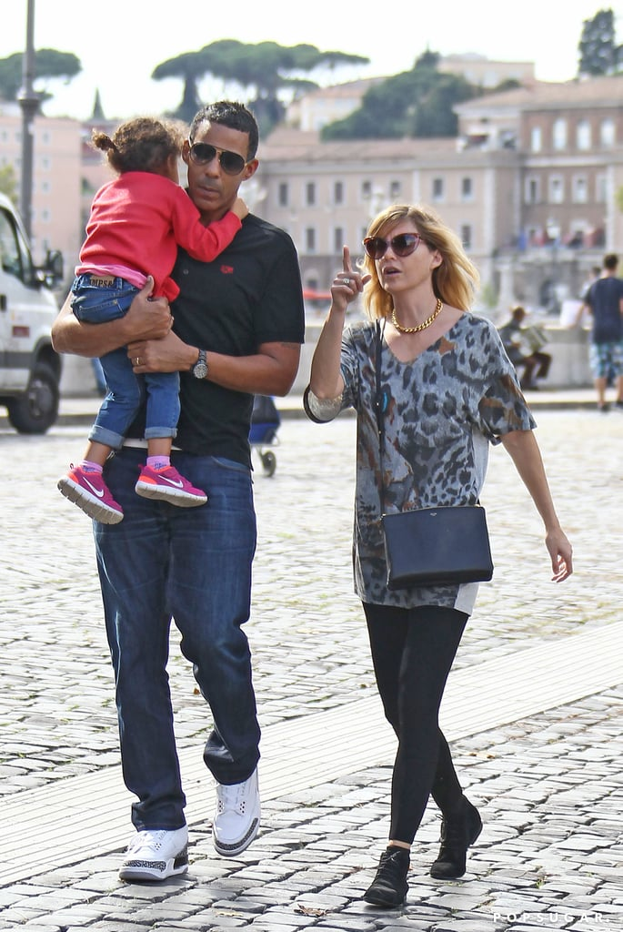 Ellen Pompeo, Stella Ivery, and Chris Ivery went to Rome over the weekend.