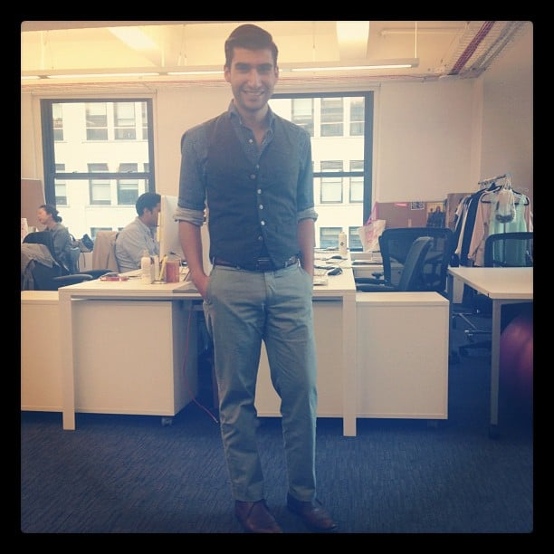 Our intern Robert Khederian worked his trademark dapper style.