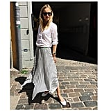 A Long Skirt and Button-Down