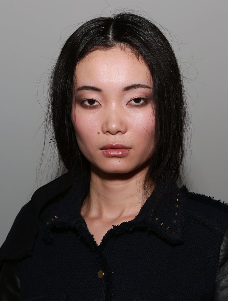 """We want her to look like she put her liner on and didn't really look in the mirror,"" Soane said. ""We're keeping the liner looking messy, effortless, and cool."" The makeup look was finished off with subtle touches. Soane swept a wash of pink across the cheeks and a soft pink on the lips."
