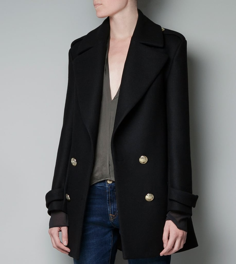 This Zara Military Coat ($189) would lend a little of Emmanuelle Alt's effortless Parisian-chic, for under $200. Kind of amazing. — Hannah Weil, associate editor