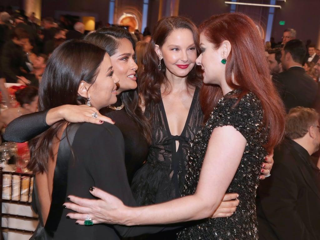 Pictured: Eva Longoria, Salma Hayek, Ashley Judd, and Debra Messing