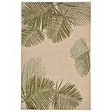 Natural and Green Palm Rug