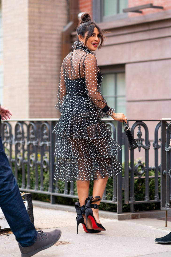 Priyanka Chopras Sheer Polka-Dot Dress  Popsugar Fashion Australia Photo 16-7810