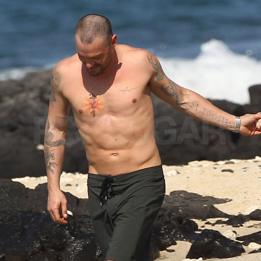 Brian Austin Green showed off his ripped torso.