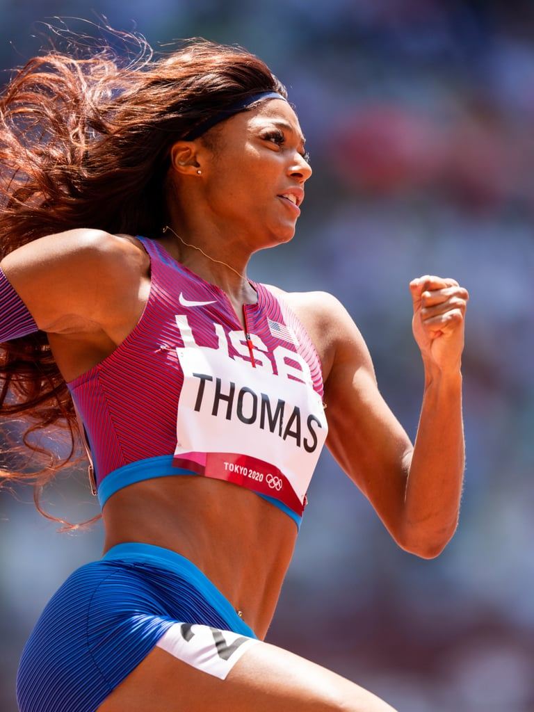 When Gabby Thomas casually put up the third-fastest 200m time ever at the U.S. Olympic Trials in June, we knew we had a new track star to keep our eye on in Tokyo. Thomas ran her first Olympic heat on Sunday, easily moving on with a second-place finish, and we (and the rest of the Internet) couldn't help thinking like she looked like a superhero doing it. Something about the combination of her casual speed and strength, calm and in-control expression, and her hair whipping around behind her . . . nobody told us Wonder Woman qualified for the Olympics this year? And in case you didn't know, Thomas is superhero-esque on and off the track. The sprinter is a Harvard neurobiology grad who's now working toward her masters in public health in Texas. In her career outside of track, Thomas wants to help end healthcare disparities in the Black community. It's safe to say she's destined for big things, no matter how these Olympics end. Thanks to another fast finish in the semi-finals, we'll get to watch Thomas flash her brilliance again in the finals on Tuesday morning (8:50 a.m. ET). Ahead, check out more photos from the prelims and watch Thomas's fast finish from her first heat!      Related:                                                                                                           It Was Love at First Sight When Track Athletes Tara Davis and Hunter Woodhall Met at Age 16
