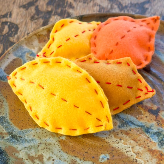 Felt Sewn Fall Leaves Craft For Kids