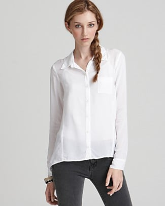 There's never a better time to restock your wardrobe staples. This asymmetric white button-up blouse is a must. Splendid Asymmetric Hem Shirt ($53, originally $88)