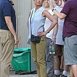 Jennifer Aniston began work on We're the Millers in Wilmington, NC.