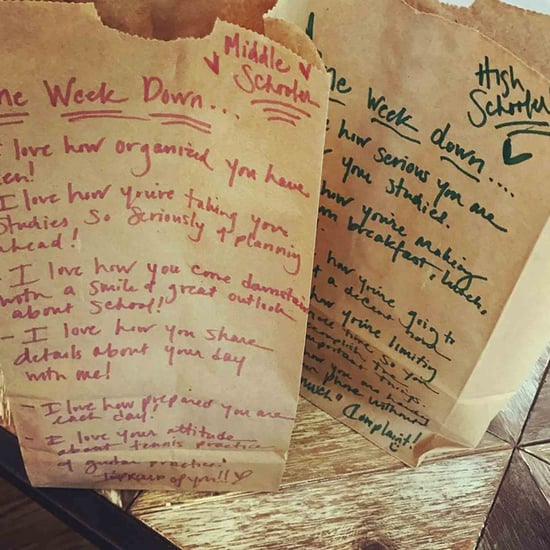 Mom Creates Uplifting Lunch Bags For Her Kids
