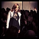 Donna Karan hit the runway at the end of her show. Source: Instagram user cfda