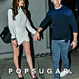 Nick Jonas and Olivia Culpo had a date night at Craig's in LA on Sunday.
