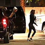 Kristen Stewart hopped out of the car before Robert Pattinson.