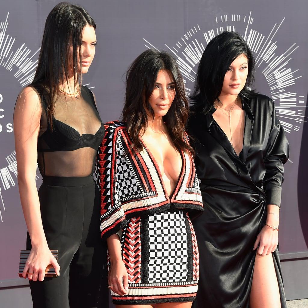 Kim Kardashian and Kendall and Kylie Jenner at the MTV VMAs