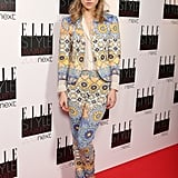 This is one girl who's not afraid of a bold print. At the Elle Style Awards in 2013, Suki went all out in a printed trouser suit. Rumour has it this was the night she first met Bradley Cooper!