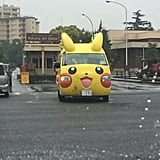 This Pikachu Bus That Takes Kids to School on an Air Force Base