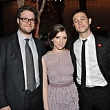 Seth Rogen, Anna Kendrick, and Joseph Gordon-Levitt celebrated the premiere of 50/50 in NYC.